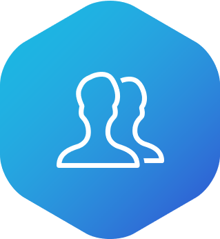 Icon showing two people