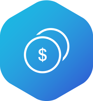 Icon showing two coins