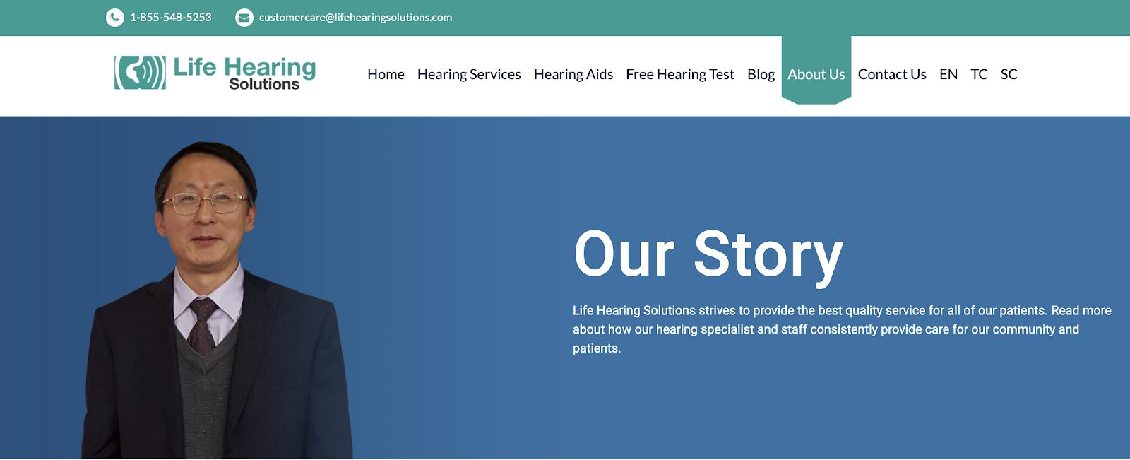 Life Hearing Website