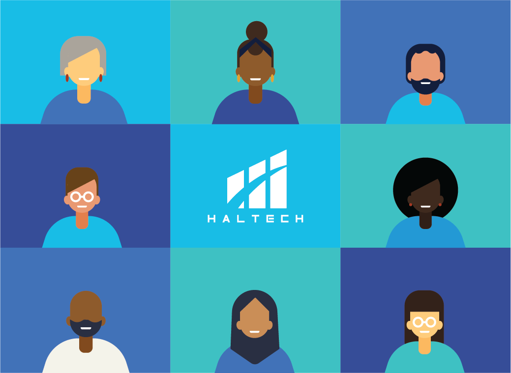 Visual showing 8 ethnically diverse illustrations of people