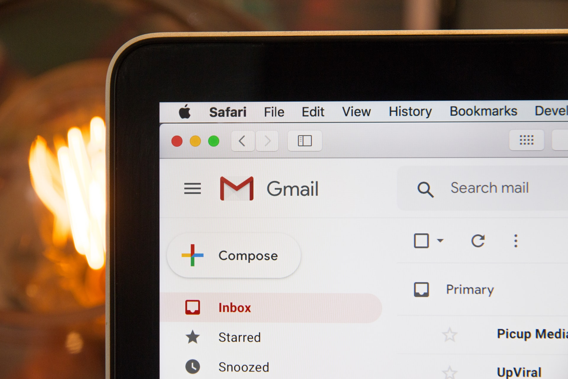 Image showing Gmail inbox